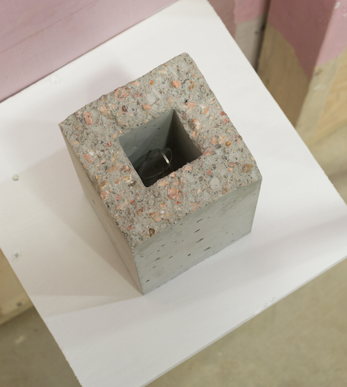 Relic 3   Mike Womack  concrete and glasses  2015