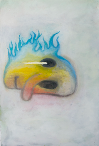 Casey Payne   Flamer   oil on paper  2014