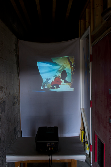 Michael Hampton   KISS   video projection  2014