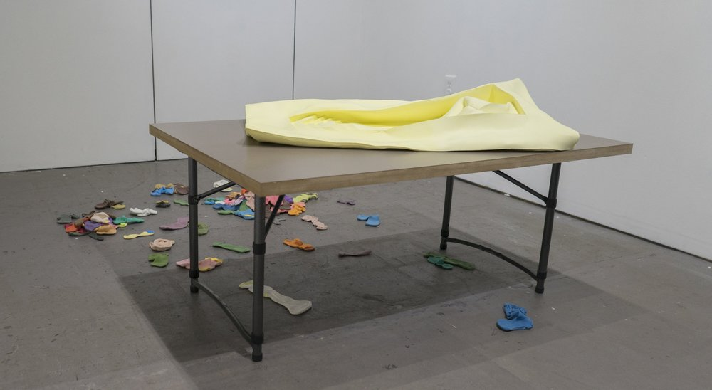 Yellow Pool   John Dickinson  Silicone, laminate, MDF  2015