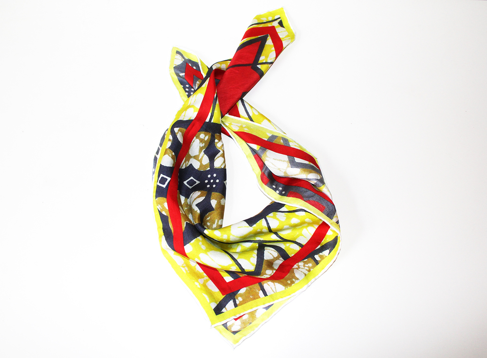 KOKO CELESTE YELLOW STAR SILK SCARF 1.jpg