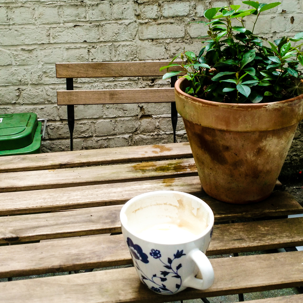 expat, Gent, Belgium, patio, garden, terrace, coffee, garden