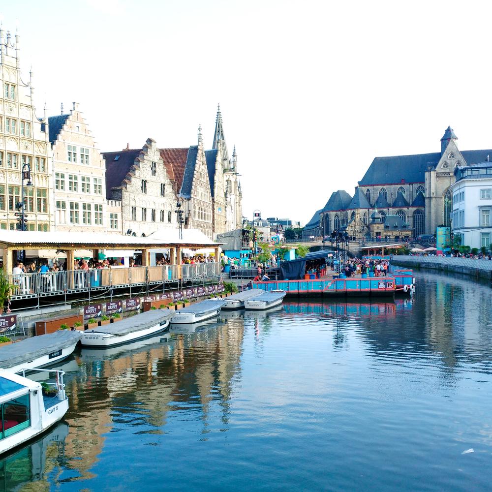expat,Gent, Belgium, wine, Gentse Feesten, water, boats