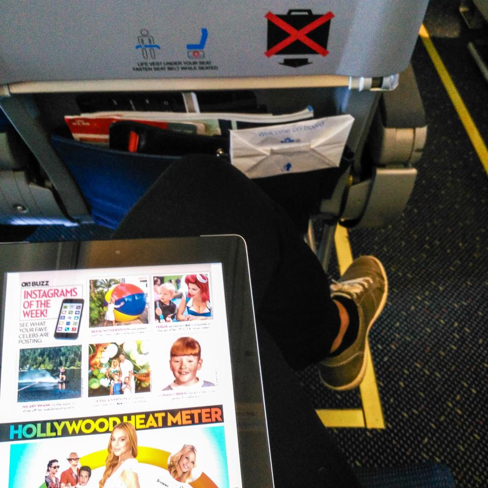 airport, travel, Copenhagen, CPH, Utah, work travel, magazine, US weekly, celebrities, KLM, Delta