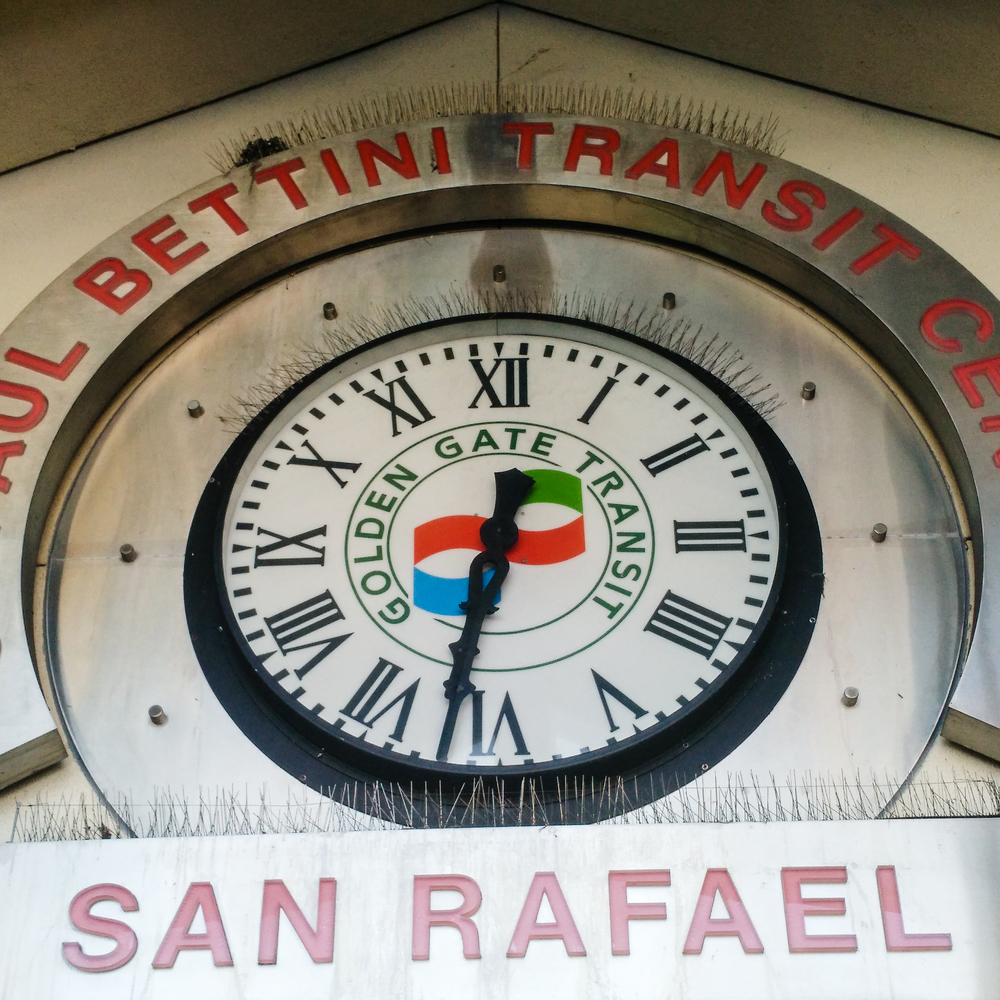 It took a few buses to get from Oakland up to Santa Rosa, including a stop through San Rafael.