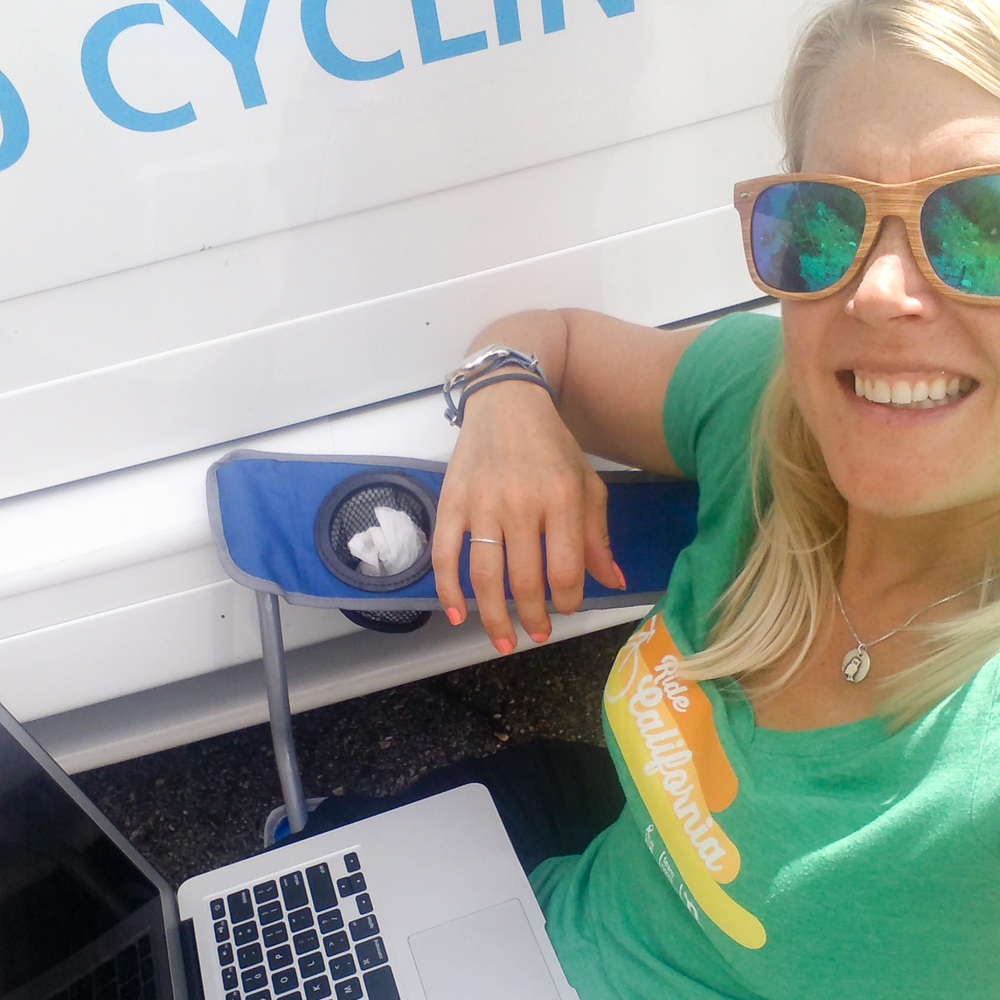 bike racing, press officer, public relations, macbook, remote work, Tour of California, Tour of Utah, pro cycling, cycling