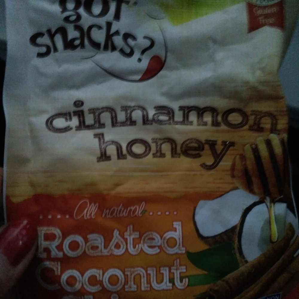 I'm a super fan of these Got Snacks Roasted Coconut Chips in cinnamon honey. I kept trying to put them down but in about five minutes, I'd eaten the whole bag.
