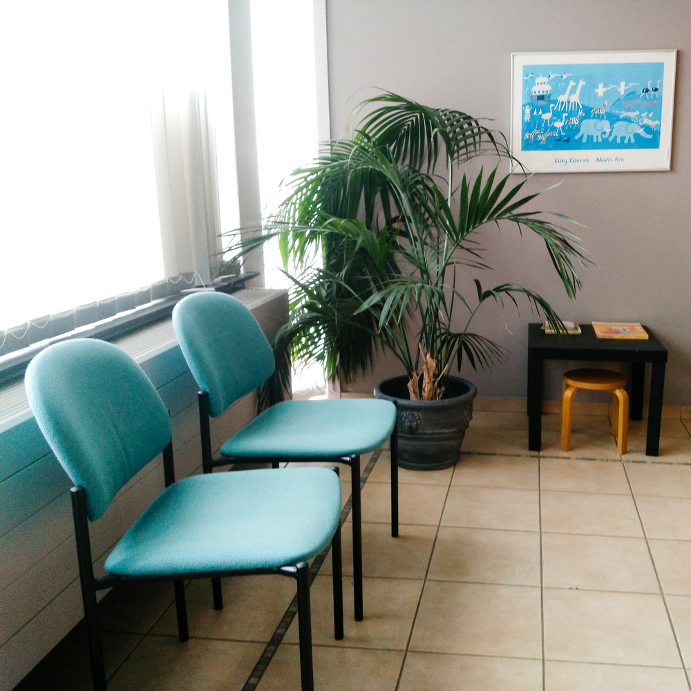 Regardless of the country, doctor's waiting rooms all look the same.