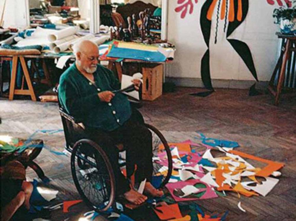 Henri Matisse in his studio