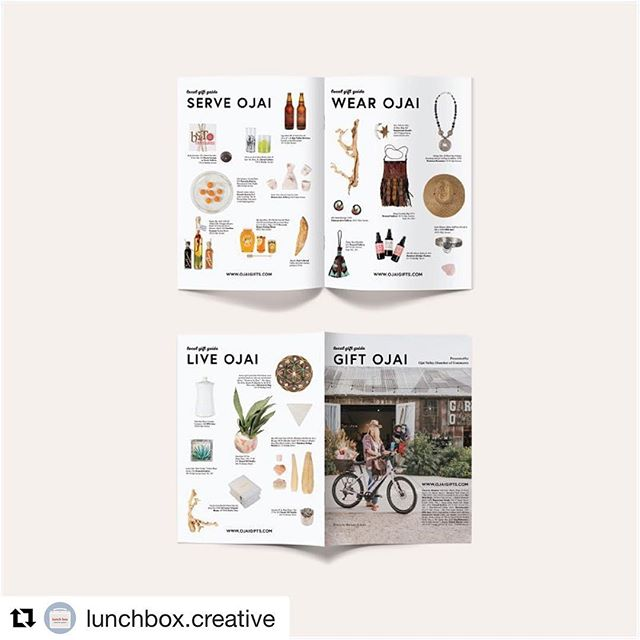The Ojai Valley Guide is out! Pick up a copy to see the Gift Guide I worked on for the Chamber of Commerce, head over to @lunchbox.creative to see more info or www.ojaigifts.com to check out the website!