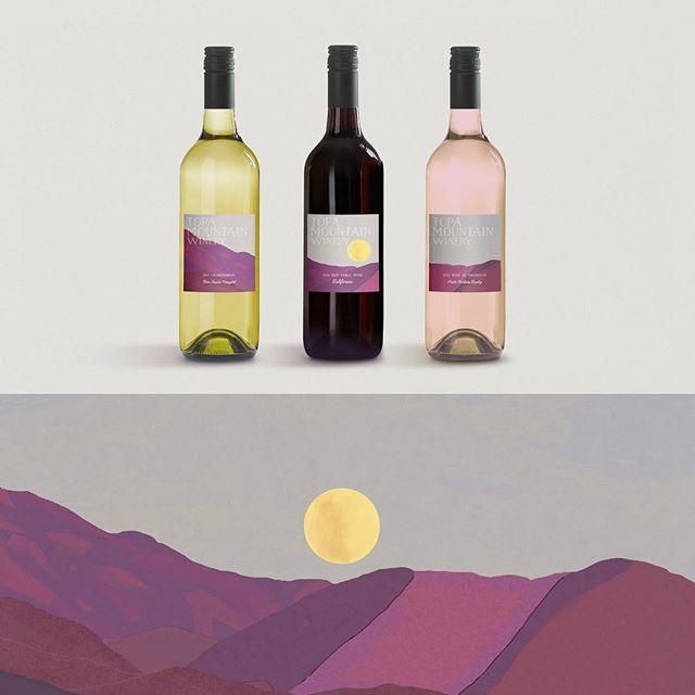 When you win a case of wine, forget that you won a case of wine, and then pick up your case of wine. . . . . . #topamountainwinery @topamountainwinery #ojai #california #wine #winelabel #illustration @theojaistudioartists #theojaistudioartists