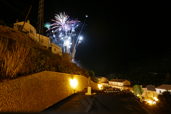 Saleres Fiesta fireworks.View from our terrace. Day two