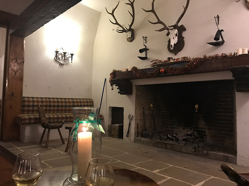 Parador de Cazorla fireplace...it was blazing every night!