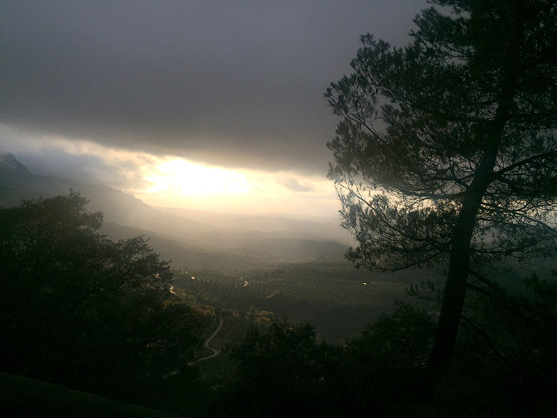 The Road from Cazorla to the Parador.