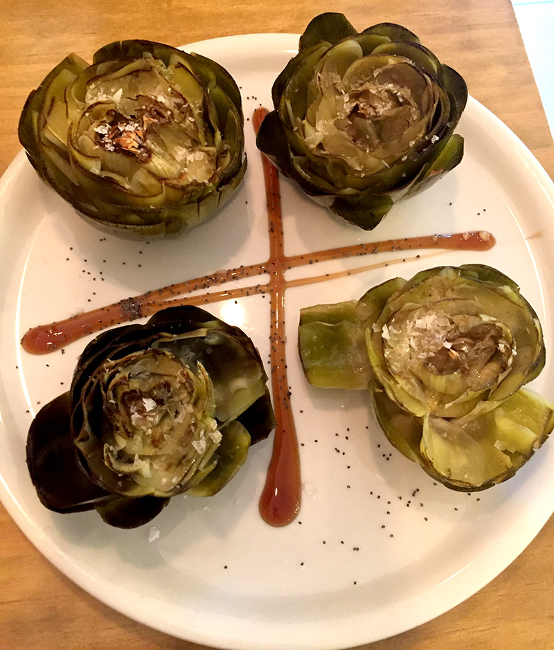 The most delicious artichokes we have ever tasted! Llamame Lola.