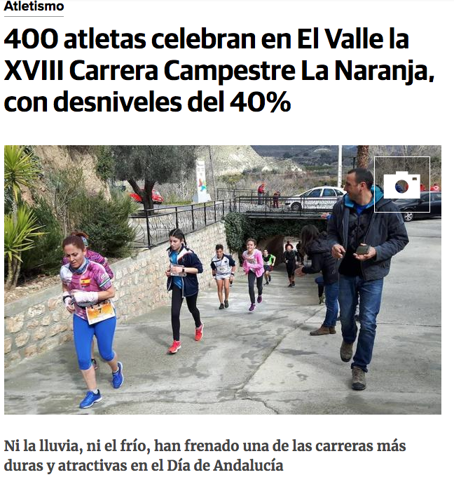 Report on the race in the regional newspaper IDEAL (click to read full article)
