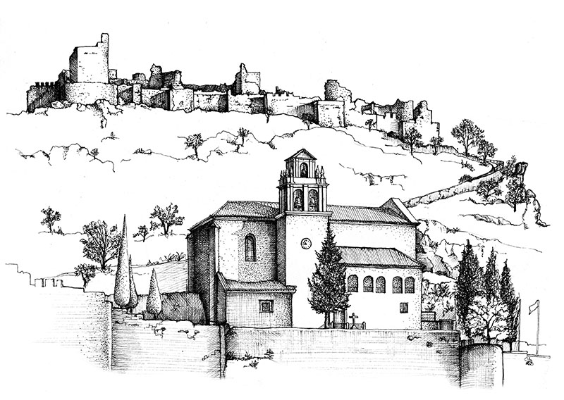 Castillo de Moclín. Illustrated by Andrew Watson