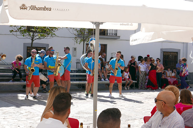 Charanga Llena playing in the Square.