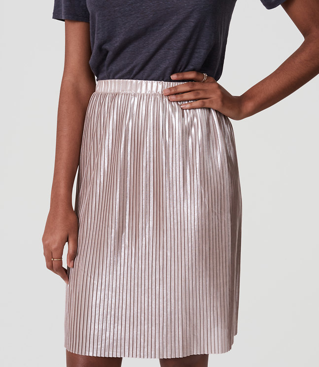 Shimmer Pleated Skirt , $15