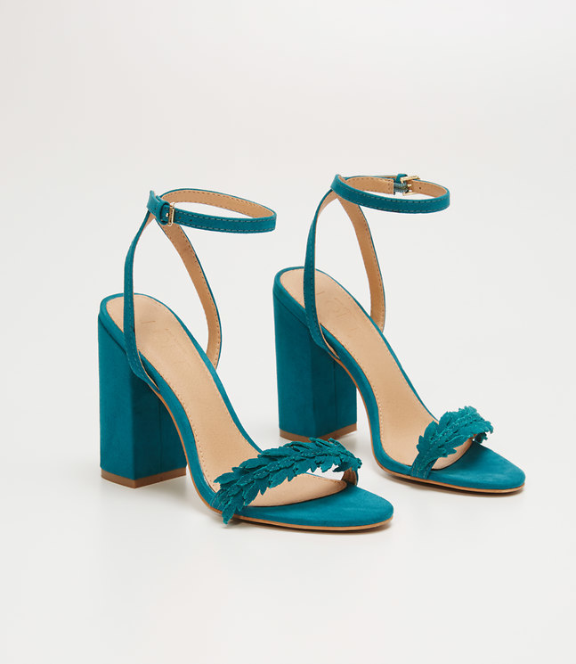 Leafed Block Heel Sandals , $60