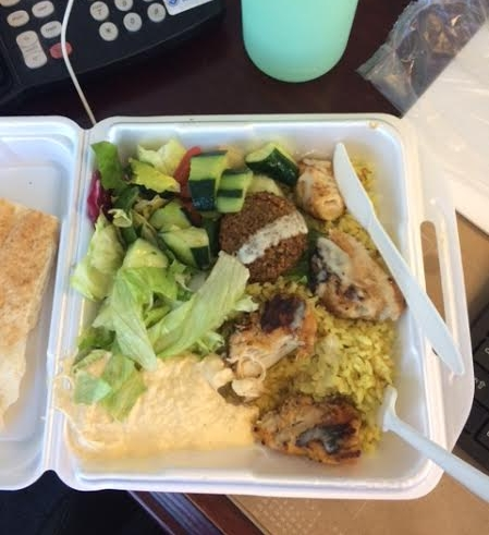 Chicken Kebab Plate, Falafel King