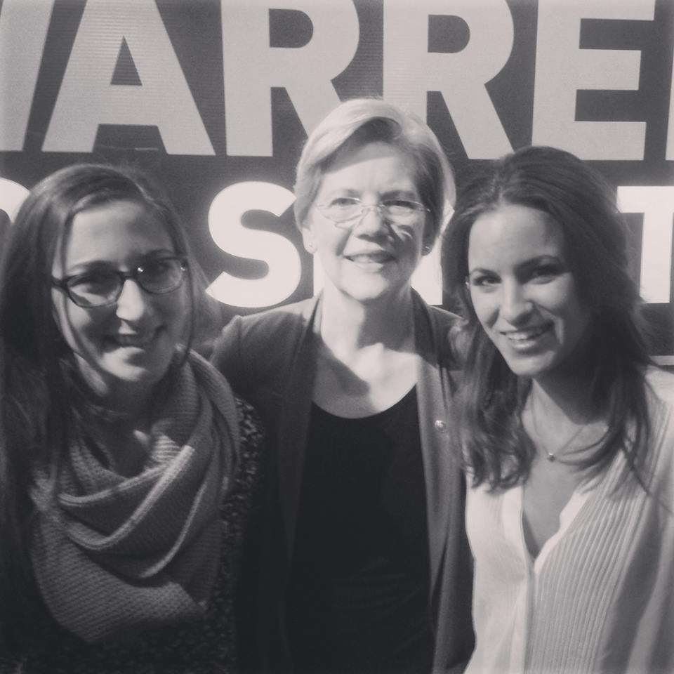 Just a couple of girlbosses at a work reunion. (Yes, Senator Elizabeth Warren is a former boss of mine.)
