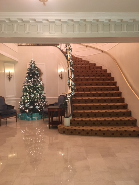 practice mindfulness: set your alarm for 60 seconds and stare at this holiday scene from this year's arrangement at  The Taj (Boston) . think about all the things you're grateful for until the alarm goes off.