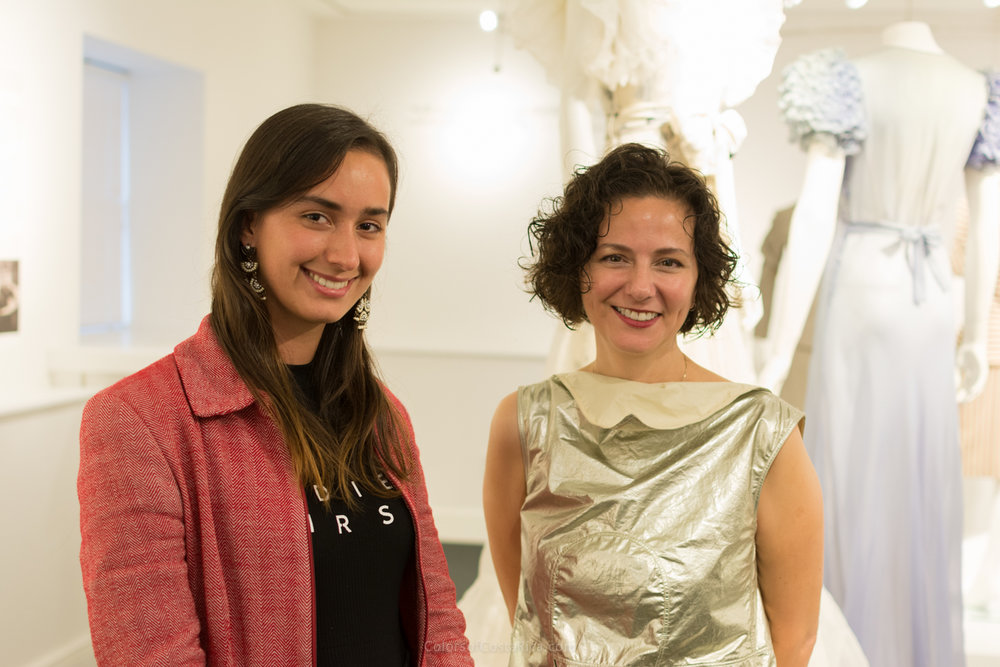 With the Costume Museum Curator, Dr. Lori Hall-Araujo