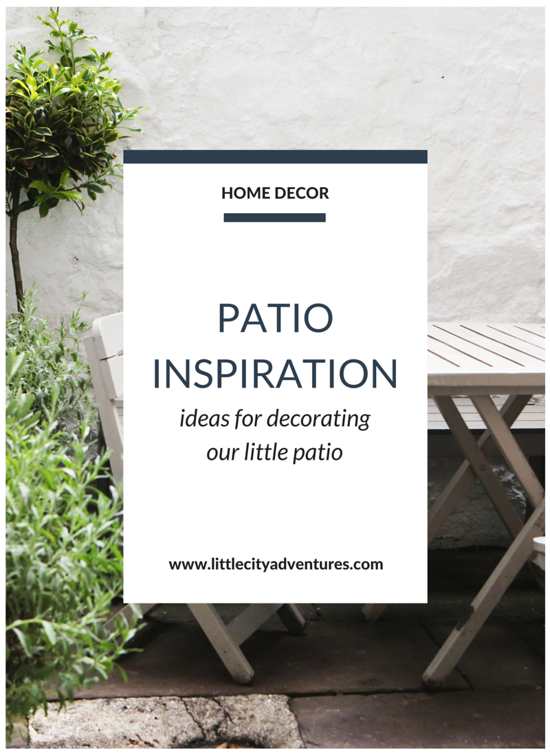 Ideas for decorating a smaller patio space >>>