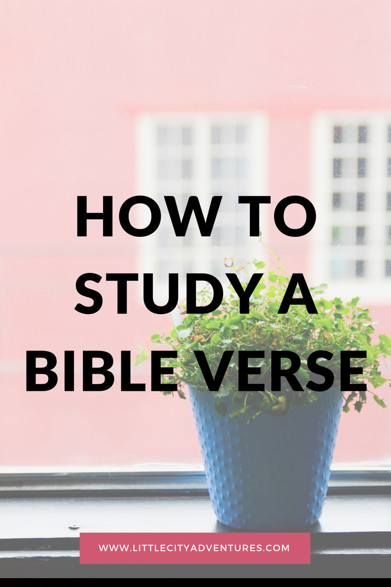 How to study a bible verse using the SOAP method