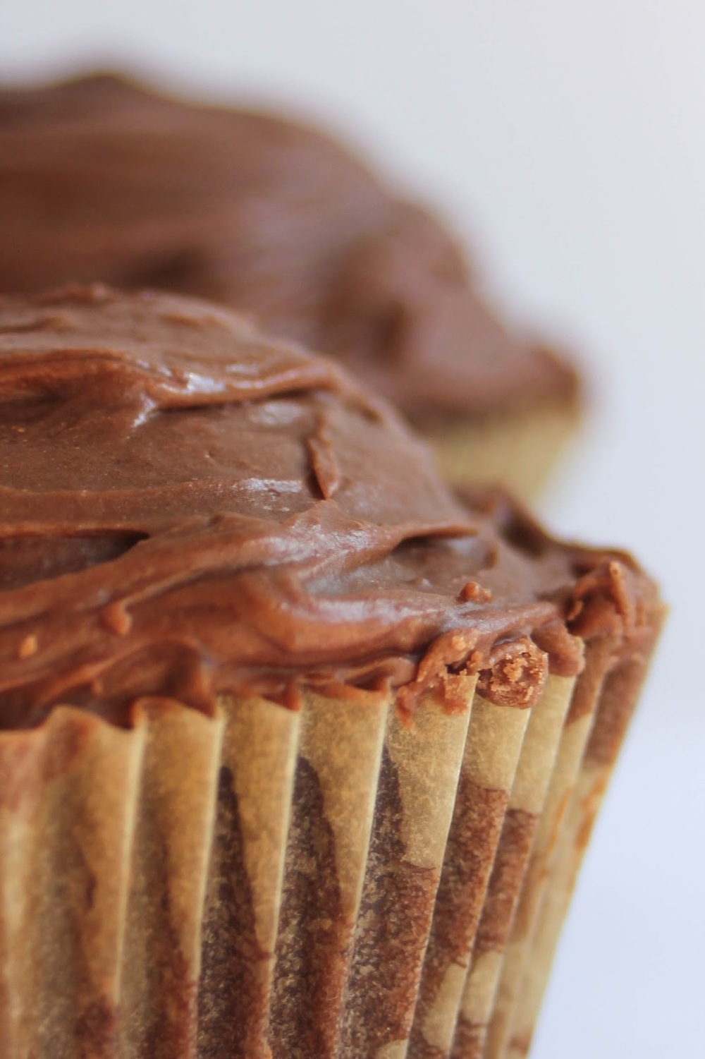 Better than a latte, Mocha Cupcakes with Salted Caramel Filling and Chocolate Fudge Frosting. #littlecitykitchen http://bit.ly/1UW8PEB