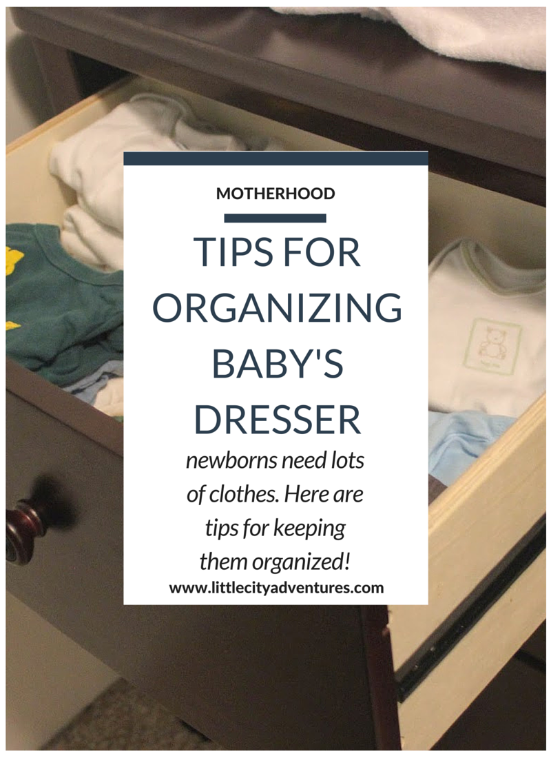 Newborns need lots of clothes (hello, spit up and diaper explosians!), here are my tips for keeping all those clothes organized >>>
