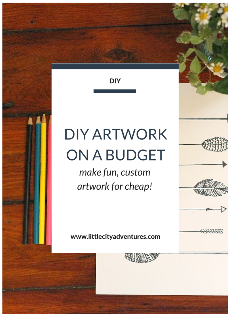 Learn how to make adorable and affordable artwork with just a few items. No drawing skills necessary >>>