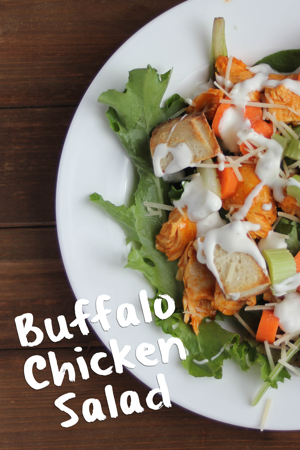 It's that epic combination of buffalo sauce and blue cheese that makes this salad SO.GOOD. http://www.littlecityadventures.com/2015/08/recipe-buffalo-chicken-salad.html #littlecitykitchen