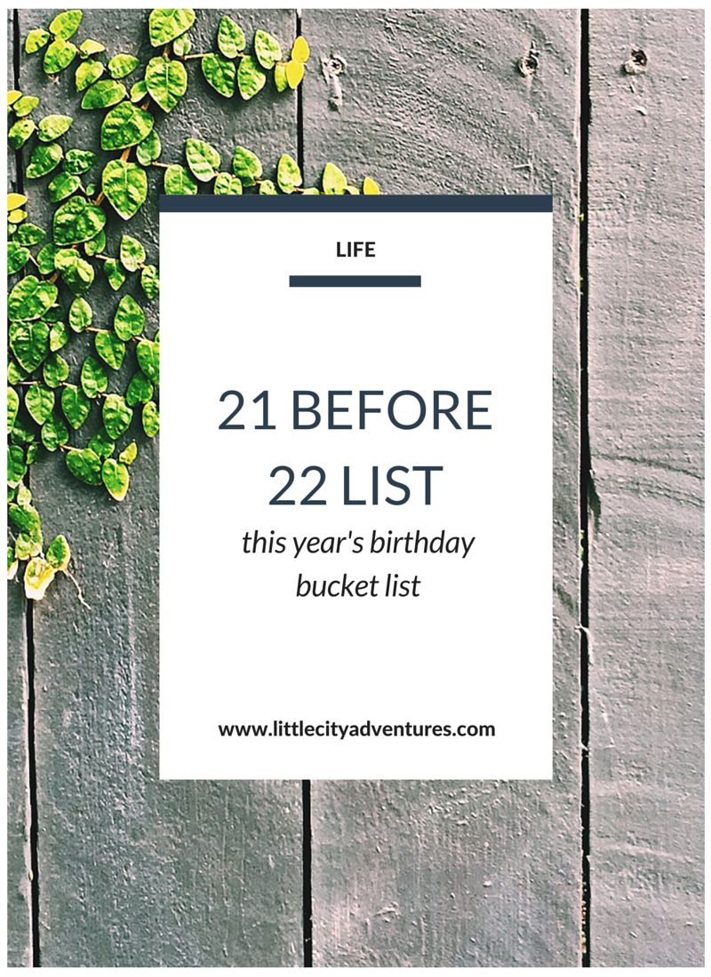 Check out this year's birthday bucket list!