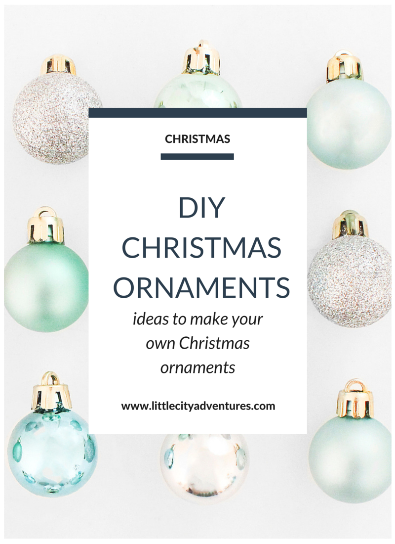 Looking to DIY some Christmas ornaments? Whether they're for your own tree or you plan on giving them as gifts, this list of DIY ornaments is awesomely helpful!