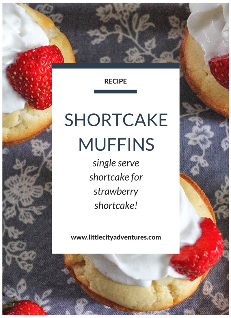 Such an adorable idea for single serve strawberry shortcake!