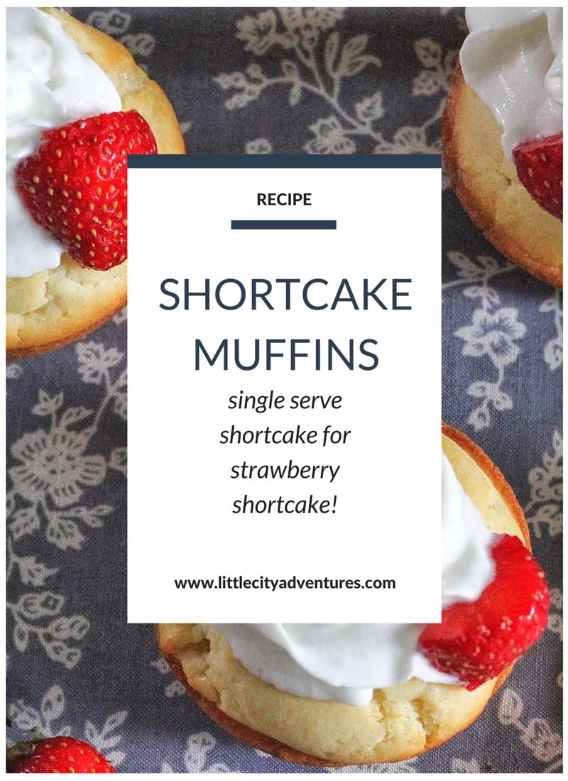 Such an adorable idea for single serve strawberry shortcake!