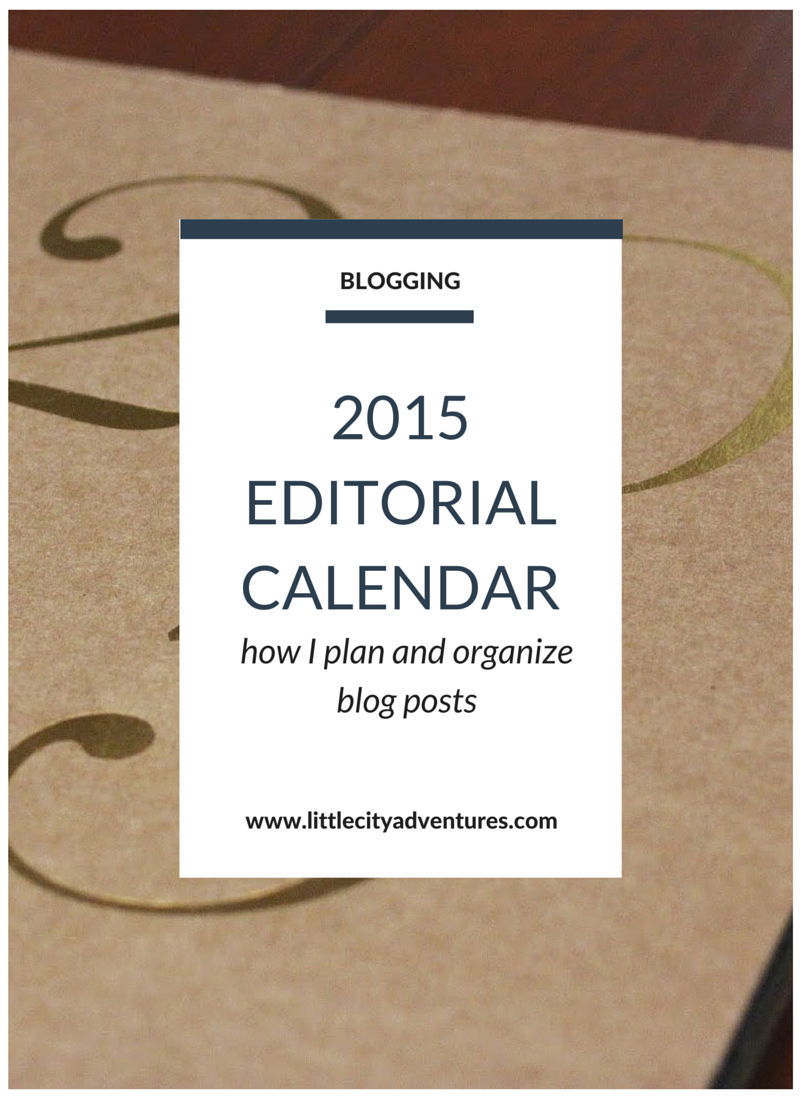 A great idea for planning your blog editorial calendar