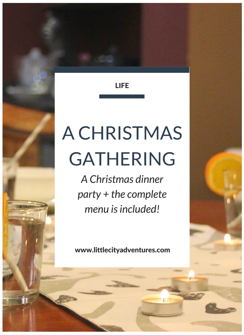 A fun casual Christmas-inspired dinner party menu