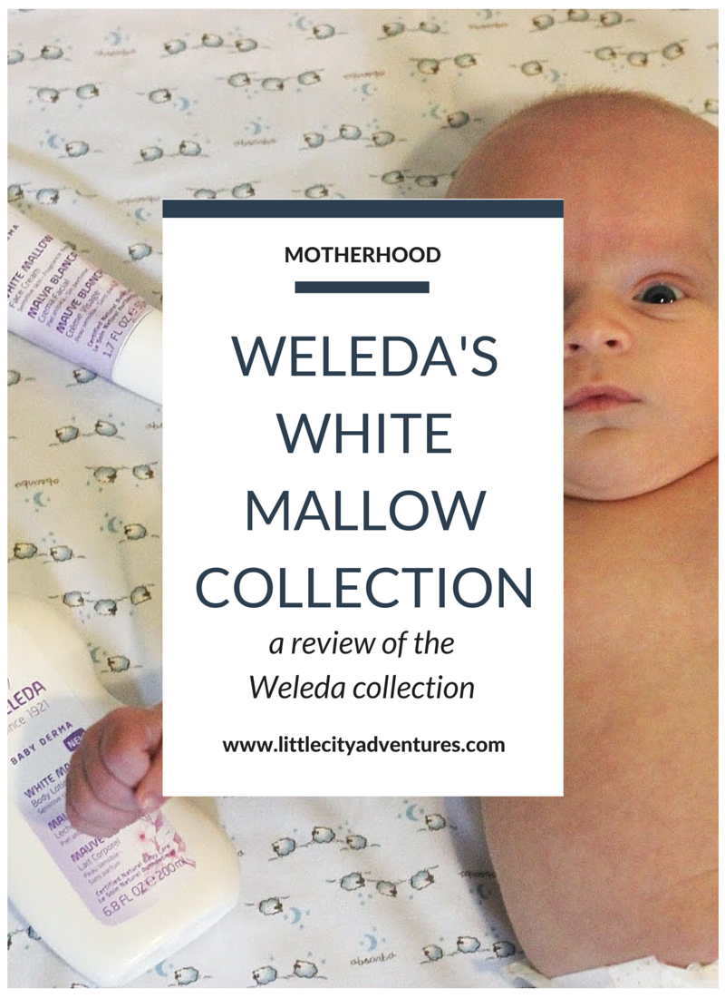 a review of Weleda's White Mallow Collection for babies #ad