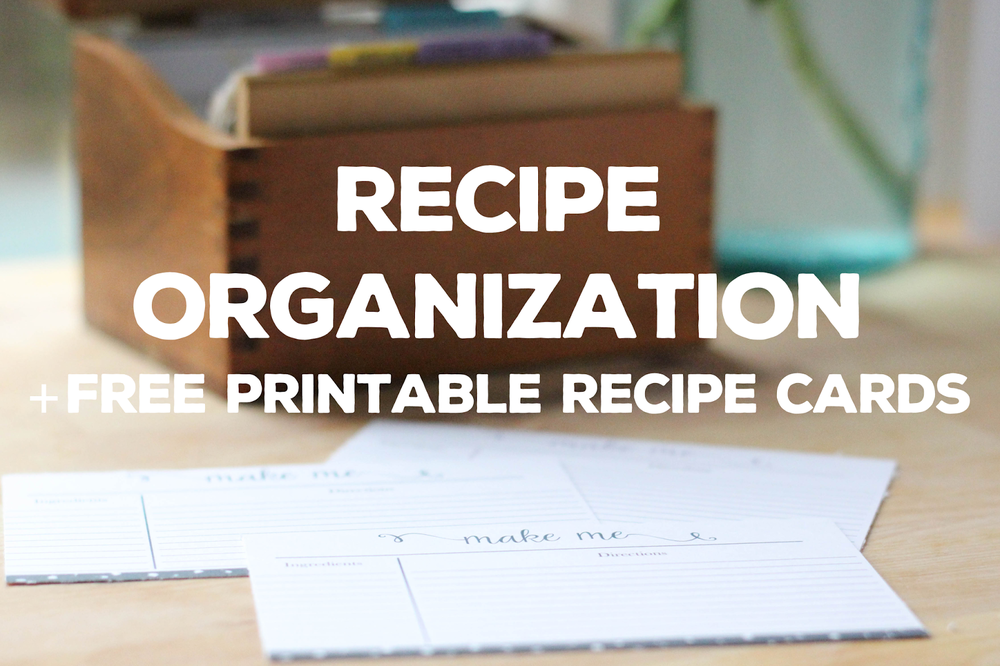 Ideas and tips for organizing recipes from Little City Adventures! With free printable recipe cards!! #free #organization #tips