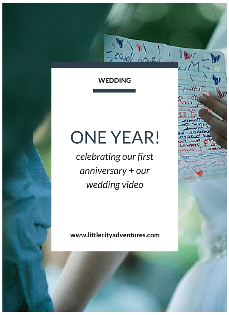 I love watching wedding videos and this one is adorable!