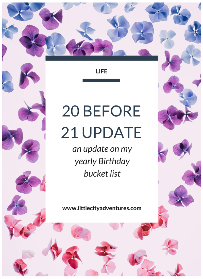 This is such a fun idea! A yearly birthday bucket list full of tasks to complete before your next birthday