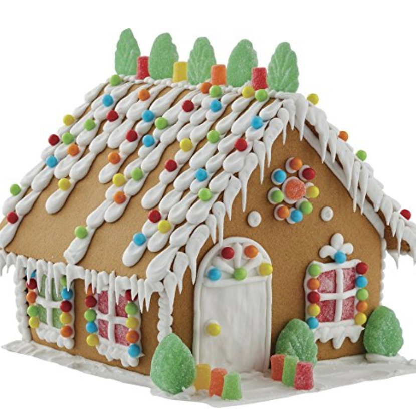 [affiliate link]  Wilton Build-Your-Own Gingerbread House Kit,  $7.87