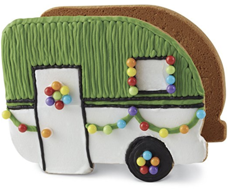 [affiliate link]  Wilton Build It Yourself Gingerbread Camper Kit,  $10.95