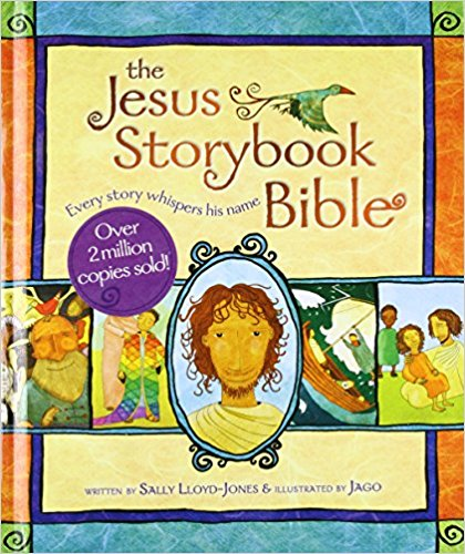 [affiliate link] The Jesus Storybook Bible, $13.90 for hardback