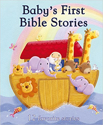 [affiliate link]   Baby's First Bible Stories  , $7.99 for padded board book