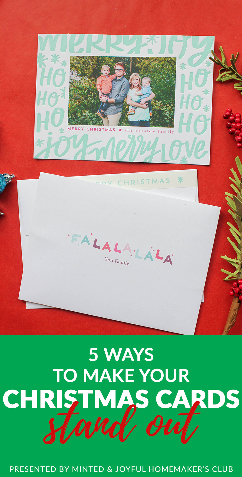Tips for making your Christmas cards stand out from the crowd! #Christmas #Christmascards #Minted #letterpress