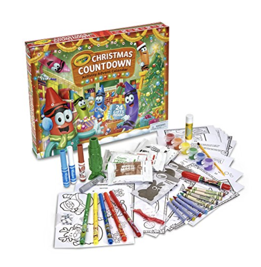 [affiliate link] Crayola Christmas Countdown Activity Advent Calendar, $19.51